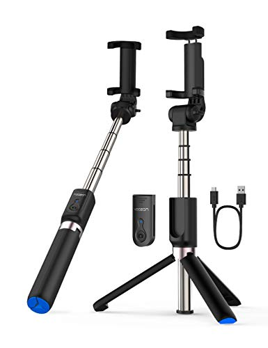Yoozon Selfie Stick Bluetooth, Extendable Selfie Stick with Wireless Remote and Tripod Stand Selfie Stick for iPhone X/iPhone 8/8 Plus/iPhone 7/7 Plus/Galaxy S9/S9 Plus/Note 8/S8/S8 Plus/More (Blue)