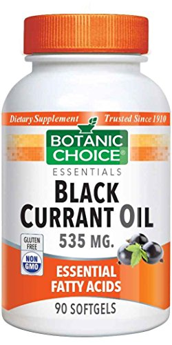 Botanic Choice Black Currant Oil 535 mg GLA 80 mg - Essential Fatty Acids Support Supplement - 90 Softgels by Botanic Choice (Image #1)