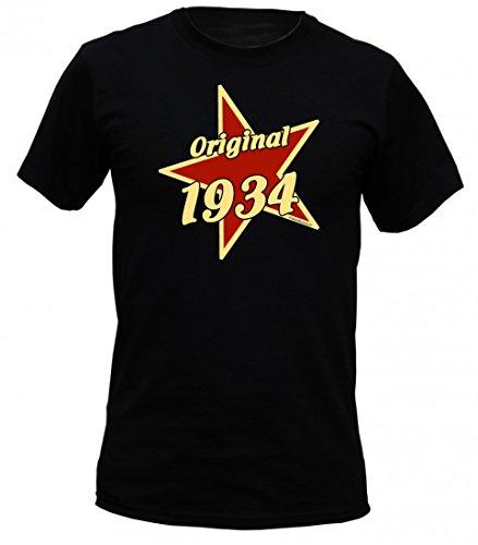 Birthday Shirt - Original 1934 - Lustiges T-Shirt als Geschenk zum Geburtstag - Schwarz