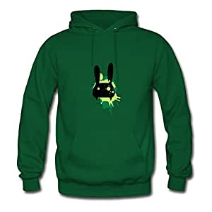 Rabbit Painting Women O-neck Sweatshirts - X-large - Electric Green