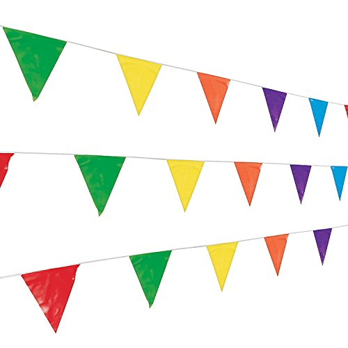 Fun Express 100 Foot Multicolor Pennant Banner -