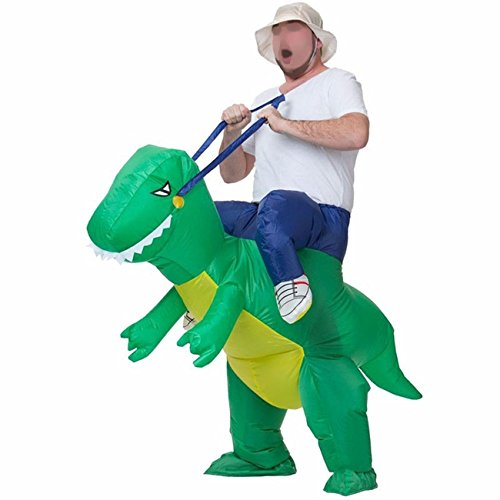 DLMY Inflatable Adult T-Rex Dinosaur Halloween Costume Fancy Party Dress Props (One Size Adult, Green) (Bunny Halloween Costume Ideas)