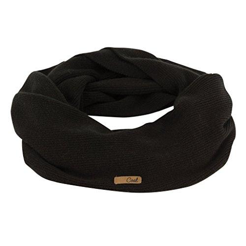 - Coal Women's The Julietta Soft Fine-Knit Eternity Scarf, Black, One Size