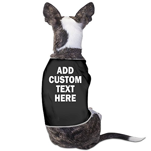 YRROWN Add Your Own Custom Text Name Or Message Dog Shirt