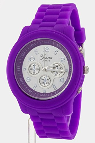 ry Jelly Strap Sports Watch By Fashion Destination | (Purple) (Closeout Costume Jewelry)