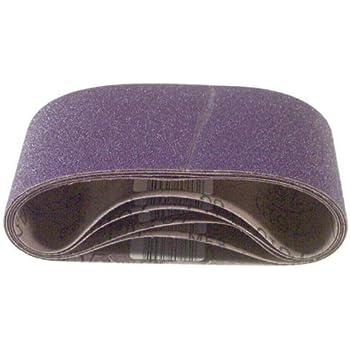 5 Belts per Package 3M 81412 3 x 24 80 Grit Purple Cloth Sanding Belts 761D
