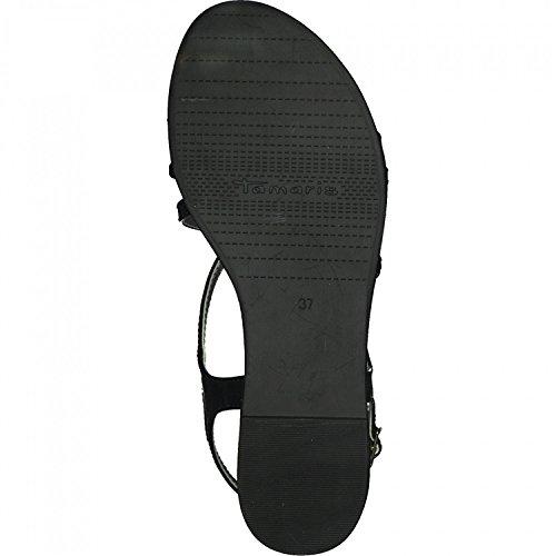 Tamaris 28129, Sandalias de Talón Abierto Para Mujer Negro (Black Patent)