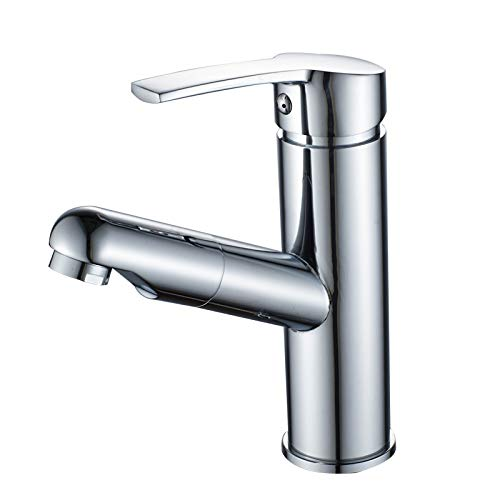 ROKTONG Sink Taps Filter Taps Bathroom Pull-Type Faucet Hot And Cold Basin Wash Basin Faucet Retractable Basin Faucet