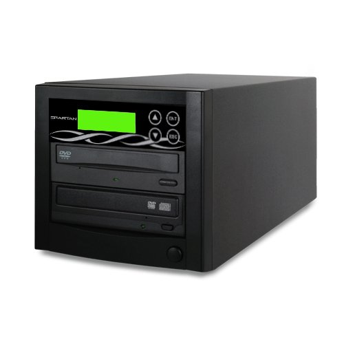Spartan Edge 1 to 1 Target Single DVD/CD Disc Copy Tower Duplicator with 24x Writer Burner (Standalone Video & Audio Back-Up Duplication System) D01-SSP by SPARTAN