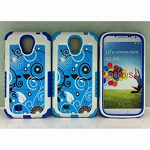 Leaf Pattern Case With Stand For Samsung Galaxy S4 i9500 --- Color:Blue