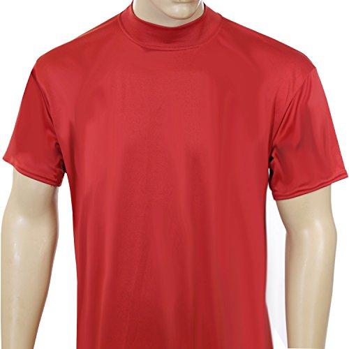 fan products of McDavid 907 No Logo Short Sleeve Mock Neck Shirt Scarlet 4XL
