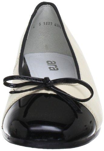 ara Bari 12-43708-06 Damen Ballerinas Schwarz (schwarz,marmor)