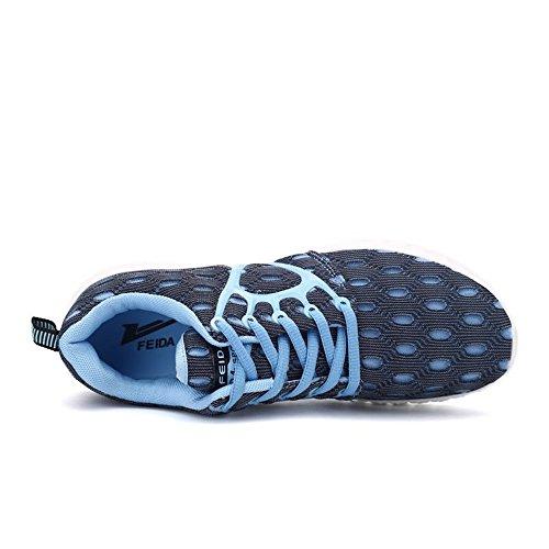 shoes Autunno tacco il da e 2018 Scarpe da Dimensione donna tempo piatto e Estate libero Sneaker sportive Color con EU esterno Jiuyue 36 Blue Light lacci da uomo per dZRwnEqdz