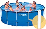 INTEX Frame Metal Pool Replacement 52 Inch Vertical Leg and Spring Pin Bar 18ftx52in 24ftx52in