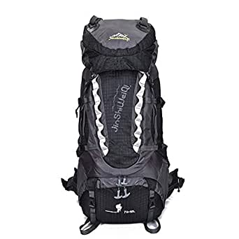 Mens Bag 80L Large Capacity Outdoor Backpack Riding A Bike With Tra Nsport Multi-function Basketball Football Quick-drying Fabric Bag Hiking Cycling Tour Equipment Black High capacity