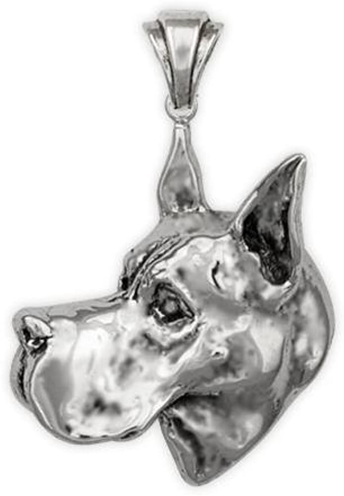 Sterling Silver Great Dane Pendant