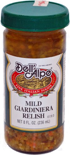 Dell Alpe, Giardinera Relish Mild, 8 oz (Relish Giardiniera)