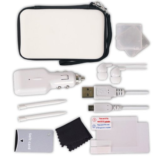 Crown Deluxe 12-in-1 Accessory Pack: White (Nintendo 3DS)