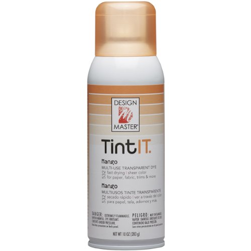 Design Master DM-TI-532 Tint IT Transparent Dye Spray Paint, 10-Ounce, Mango by Design Master