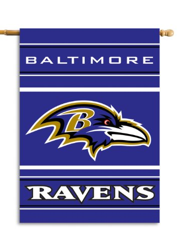 Fremont Die NFL Baltimore Ravens 2-Sided 28-by-40-Inch House Banner
