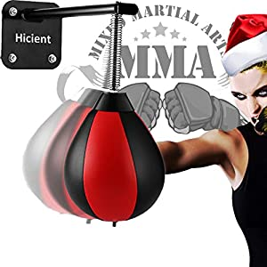 Hicient Punching Bag Wall Mount with Spring,Boxing Reflex Ball Great for Relief Stress and Exercise Fun for Entire Family or Gym