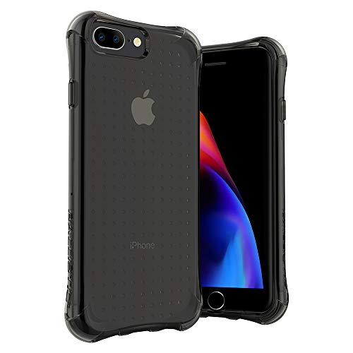 Ballistic iPhone 8 Plus Drop Protection Case with Bumper, iPhone 7 Plus Shockproof Case, 5.5-Inch for iPhone 6/6s/7/8 Plus - Black Clear