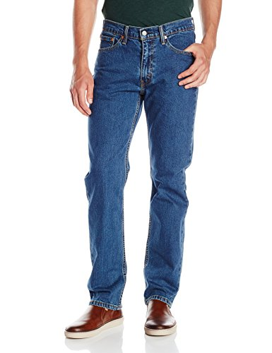 Levi's Men's 514 Straight Fit Stretch Jeans - 32W x 34L - Stonewash Stretch (Essential Slim Jean)