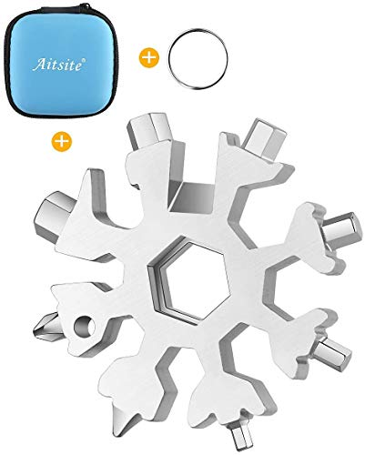 Aitsite 18-in-1 Snowflake Multi Tool Stainless Portable Steel Multi-Tool for Outdoor Travel Camping Adventure Daily Tool…