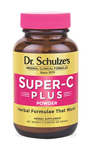 Dr. Schulze's | Super-C Plus Powder | Vitamin C Complex | Clinical Herbal Formula | Dietary Supplement | Optimal Immunity Support | Increase Collagen Formation & Iron Absorption | 2 oz Bottle