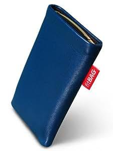 Beat Blue fitBAG-Funda con pestaña para Nokia x 5-01. piel de napa de calidad superior con forro de microfibra para limpieza de pantalla