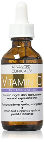 Advanced Clinicals Vitamin C Anti-aging Serum for Dark Spots, Uneven Skin Tone, Crows Feet and Expression Lines. 1.75 Fl Oz.