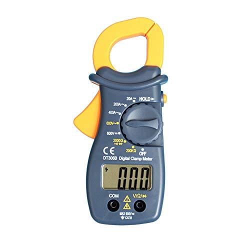 CactusAngui LCD Testing Ammeter Digital Durable Clamp Meter Auto Range Data Holding Diode Grey
