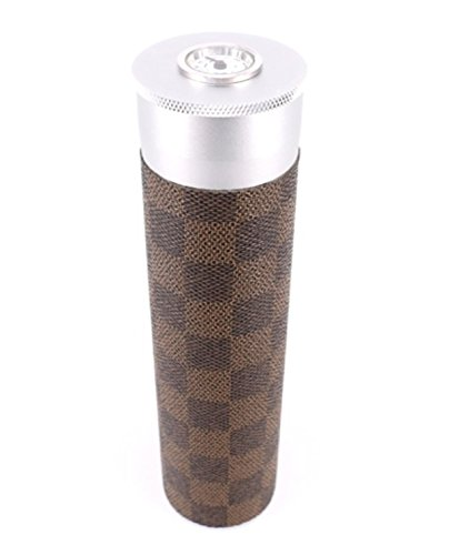 CiGuru CTT011 Cigar Travel Tube Humidor Airtight with Hygrometer Aluminium & Leather Travel Humidor Tube