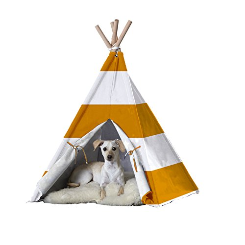zoovilla Orange Stripe Large Pet Teepee