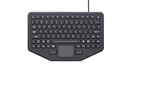 Ultra-Thin Mobile Keyboard with VESA MOUNTING Pattern, SYNAPTIC TOUCHPAD, RED BA