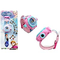 Rvold 24 Images Projector Girl's Digital Toy Watch - Frozen (Color May Vary)