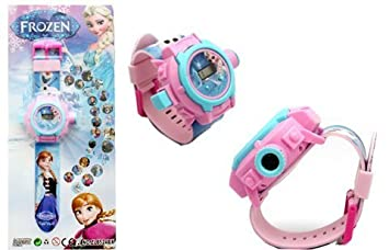 RVold VE 24 Images Frozen Projector Girls Digital Toy Watch (Colour May Vary)