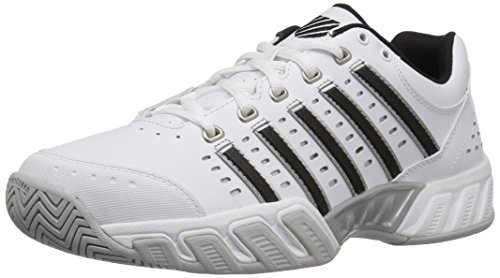 K-Swiss Men's Bigshot Light Tennis Shoe White/Black/Silver 10 M US