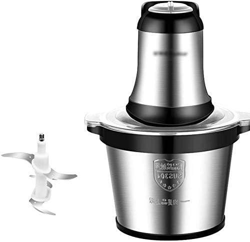 ZY Picadora de Carne, Robot de Cocina de Acero Inoxidable 3L máquina de Picar Alimentos de Carne, Verduras, Frutas y nueces, Mini Chopper, 500W, tazón de Acero Inoxidable LOLDF1: Amazon.es