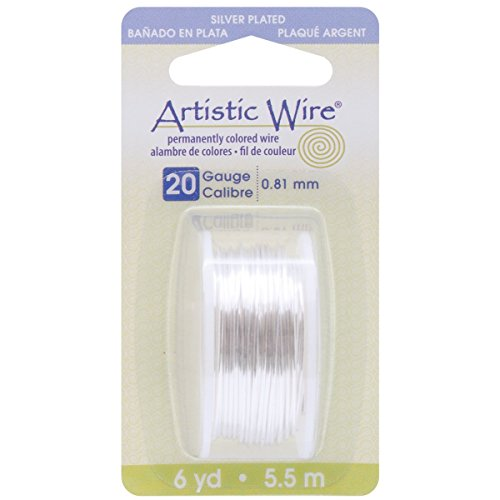 Beadalon Artistic Wire 20-GaugeTarnish Resistant Silver Wire, 6-Yard