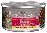 Pro Plan Adult Beef and Cheese Entree in Gravy Canned Cat Food, My Pet Supplies