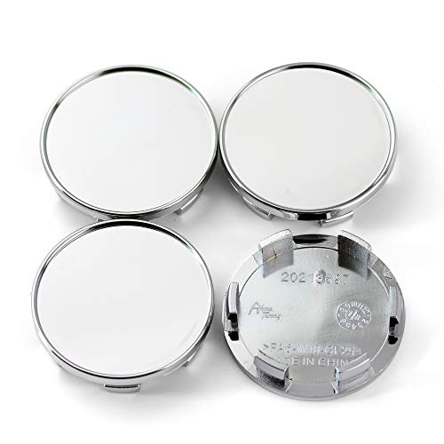 (54mm Silver ABS Car Wheel Center Hub Caps Set of 4)