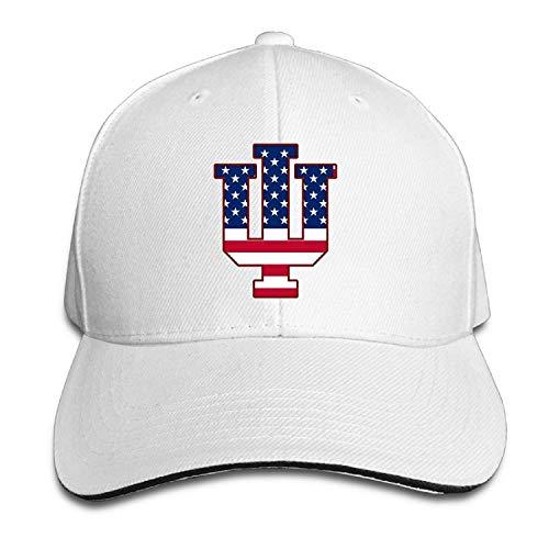 UMarsDeal Indiana IU Flag University Bloomington Outdoor Hat Flex Fit Hat -