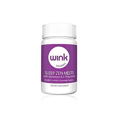 Wink Naturals Zen Melts Natural Sleep Aid Supplement, 100% Safe and Effective, 30 Meltaway Tablets