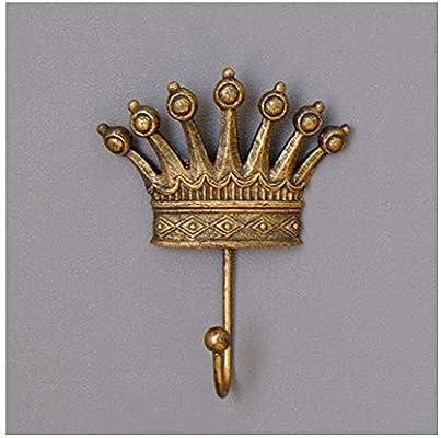 LYQZ Americano francés Retro decoración de la Corona Gancho ...