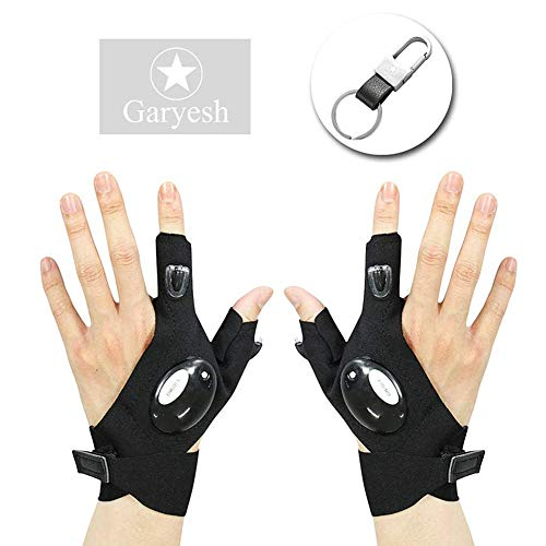 Garyesh Led Gloves Pack Of Two Outdoor Night Light Night Fishing Camping Flashlight With 2 LED Light