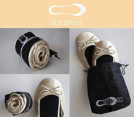 Lote 12 Bailarinas doradas Roll&go Publiclick, fabricadas en cuero sintetico y suela termoplastica, se sirven en tallas surtidas: Amazon.es: Hogar