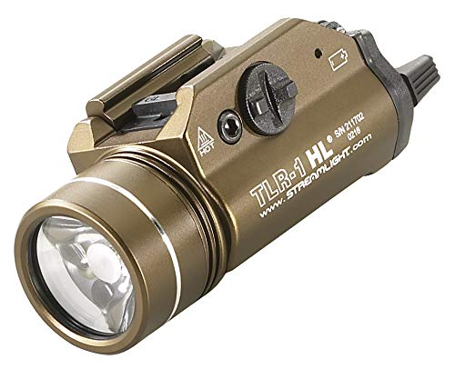 (Streamlight 69267 TLR-1-HL High Lumen Rail-Mounted Tactical Light, Flat Dark Earth Brown - 800 Lumens)
