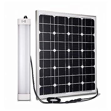 IT Plafón de Techo con energía Solar para Exteriores con Mando a