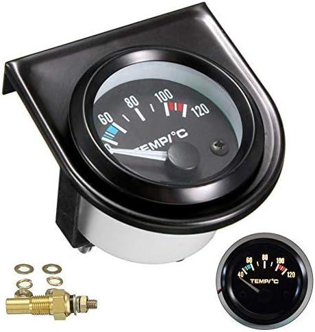 CYBfacai 2 - Medidor digital de temperatura del agua del coche (52 mm, 40-120º, luz LED universal)